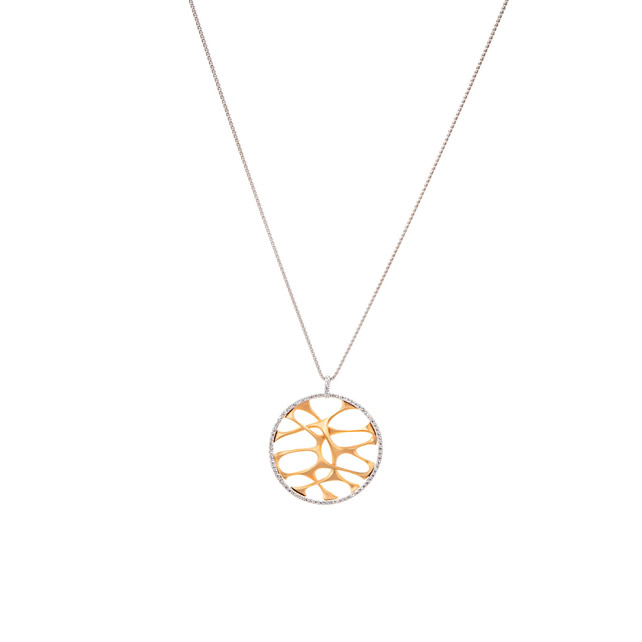 WHITE DIAMOND GOLD NECKLACE