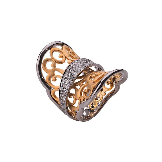 WHITE DIAMOND RUMI RING