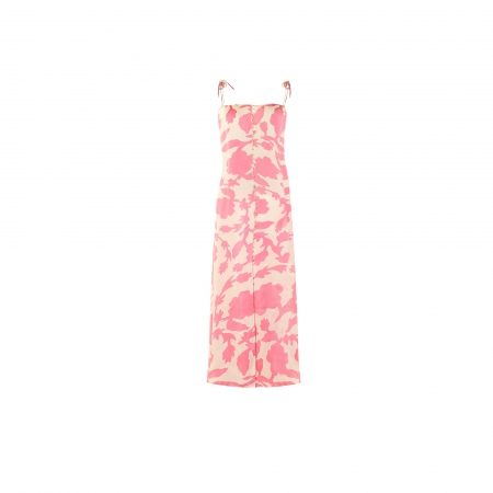 Printed Maxi Silk Dress