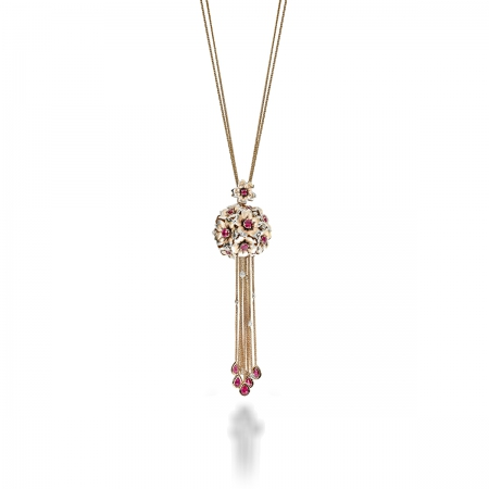Ruby Vervain Bucket Necklace