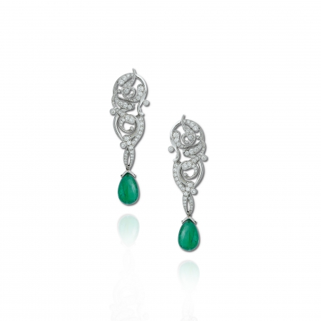 Rumi Emerald Earrings