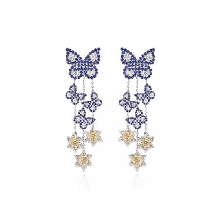 Sapphire Butterfly Earring
