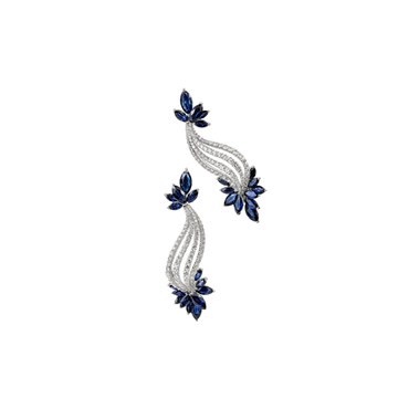 Sapphire Helix Earirngs