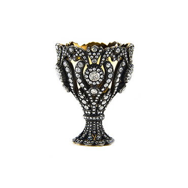 The Diamond Bejeweled Gold Sultani Cup Holder