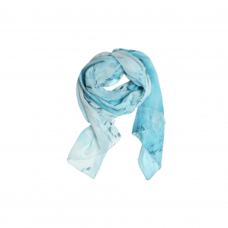 EBRU PATTERNED SILK SCARF