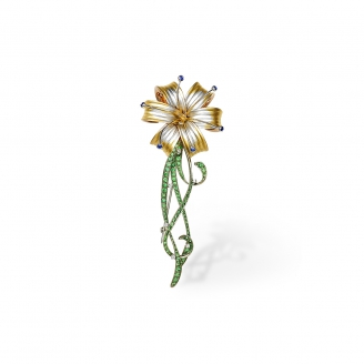 SAPPHIRE LILY BROOCH