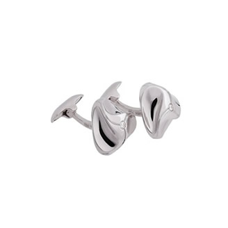 WHITE GOLD CUFFLINKS