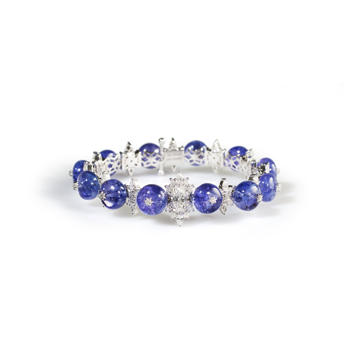 with bracelet in tw yellow tanzanite gold diamonds