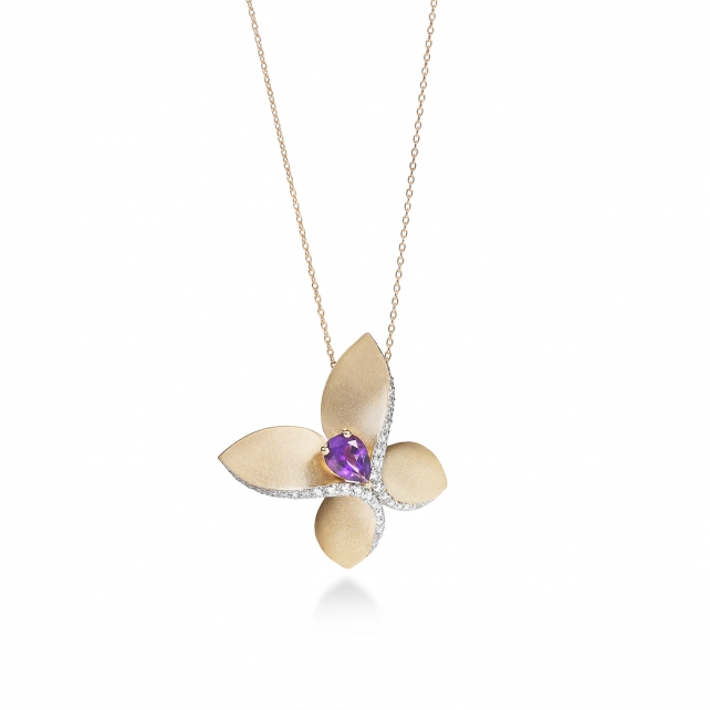 AMETIST CARBONELL BUTTERFLY NECKLACE