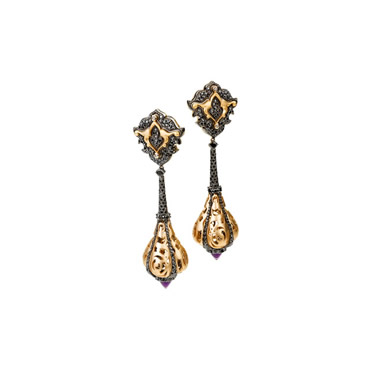 Ametist Topuz Earrings