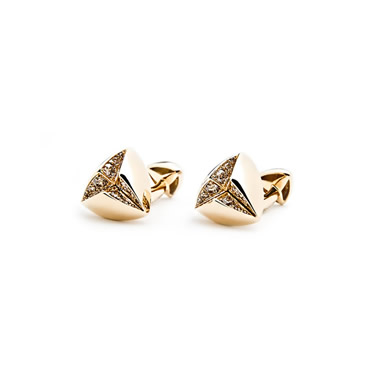 Cognac Diamond Star Cufflinks