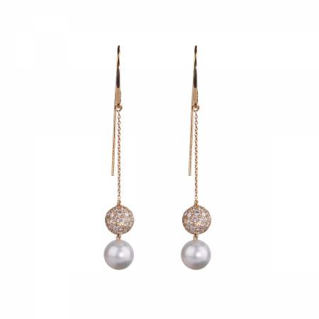 Diamond Hook Earrings