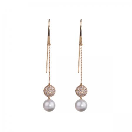 Diamond Hook Earrings
