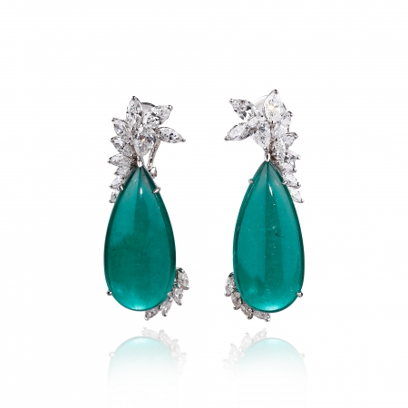 Drop Emerald Earrings