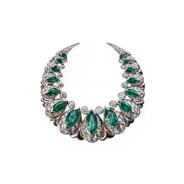 Emerald Moon Brooch