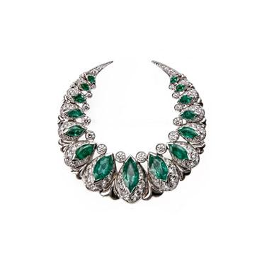 Emerald Moon Brooch
