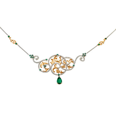 Emerald Rumi Necklace