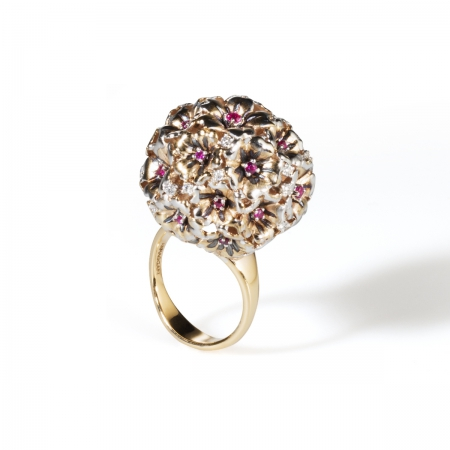 Ruby Vervain Bucket Ring