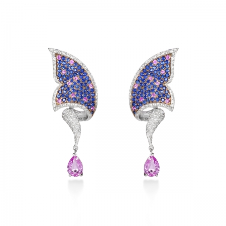 Sapphire Carbonell Butterfly Earring