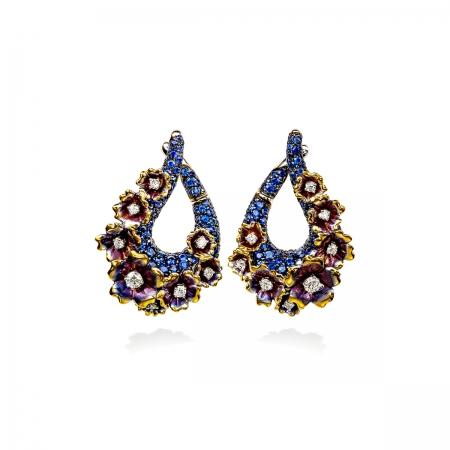 Sapphire Vervain Earrings