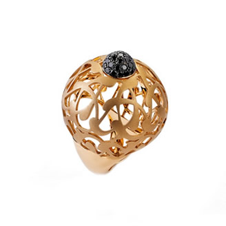 BLACK DIAMOND RUMI RING