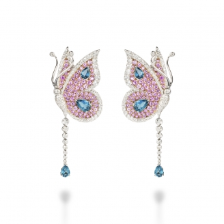 LONDON BLUE TOPAZ CARBONELL BUTTERFLY EARRING