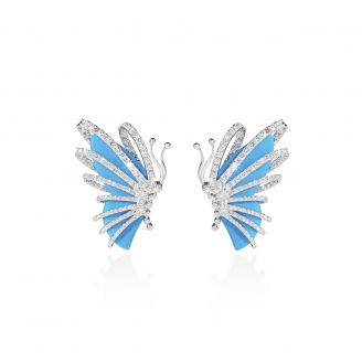TURQUOISE HOWTHORN BUTTERFLY EARRING